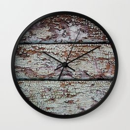Chipped Paint Texture Wall Clock