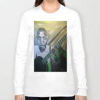 allyson johnson Long Sleeve T-shirts featuring Robert Johnson  by Robert E. Richards