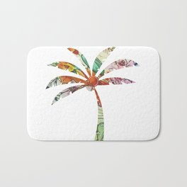 Palm Tree Fabric Bath Mat