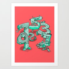 Odd Numbers Art Print