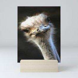 Ostrich Head Mini Art Print