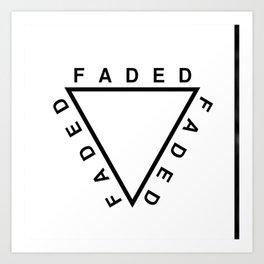 FADED TRIANGLE Art Print