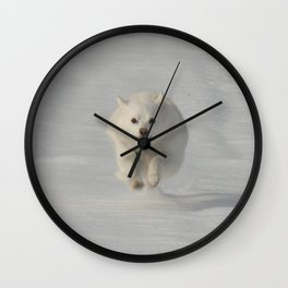 Snow Run Wall Clock