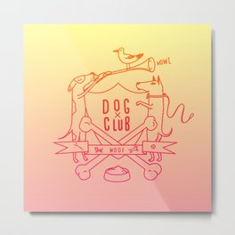 Dog Club Metal Print