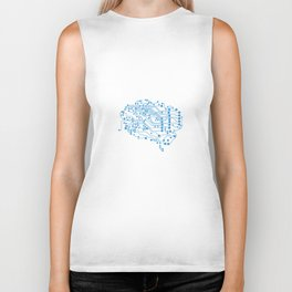 Electric brain Biker Tank