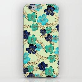 Multicolor elegant floral texture iPhone Skin