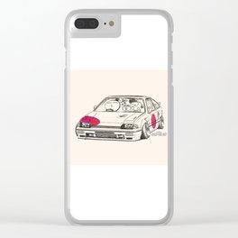 Crazy Car Art 0165 Clear iPhone Case
