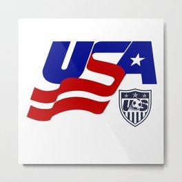 USA FOOTBALL  IN OLIMPICS RIO Metal Print