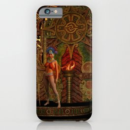 Fantasy maya temple in the sunset iPhone Case