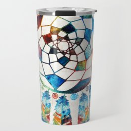 Native American Colorful Dream Catcher by Sharon Cummings Travel Mug