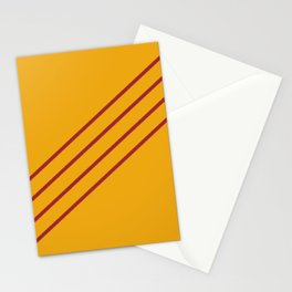 Orange and Red Angled 4 Stripe Pattern Rustoleum 2021 Color of the Year Satin Paprika Harvest Peach Stationery Cards