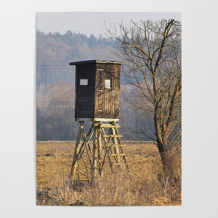 Hunting Deer Stand Near The Woods Poster By Rodeodays