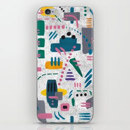Abstract gouache iPhone Skin