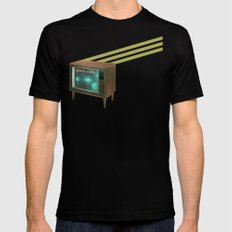 aliens exist - and anything else on tv Black MEDIUM Mens Fitted Tee