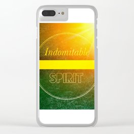 Indomitable Spirit Clear iPhone Case