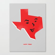 Happy Texas Canvas Print