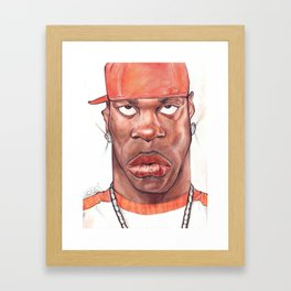 Busta Rhymes Caricature Framed Art Print