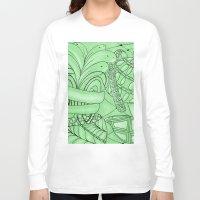 zentangle Long Sleeve T-shirts featuring Zentangle by Annalisa Amato Art