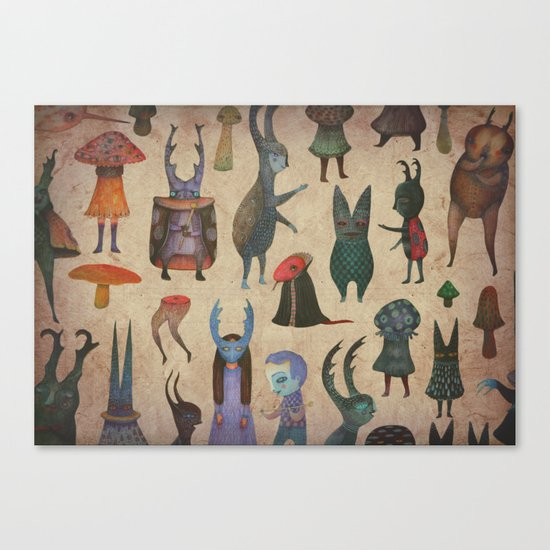 The Cursed Forest characters Canvas Print