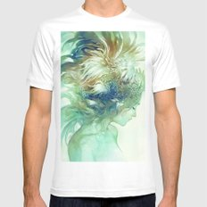 Comb White MEDIUM Mens Fitted Tee