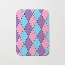 Diamonds - Pastel Bath Mat