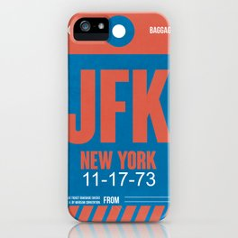JFK New York Luggage Tag 1 iPhone Case
