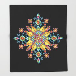 Alhambra Stained Glass Throw Blanket