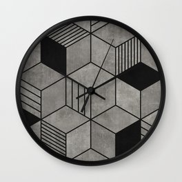 Random concrete hexagons Wall Clock