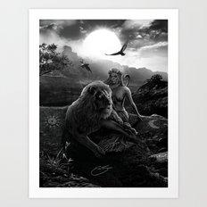 VIII. Strength Tarot Card Illustration Art Print