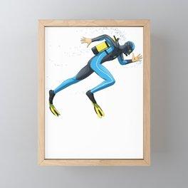 Diver Sprinter track and field sprint runner  sport Framed Mini Art Print