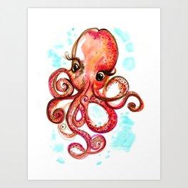 Miss Octopus Art Print