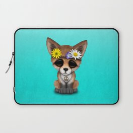 Cute Baby Fox Hippie Laptop Sleeve