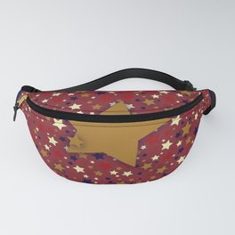 Gold Star Blue Fanny Pack