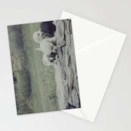 Puppies on a Wall Stationery Cards