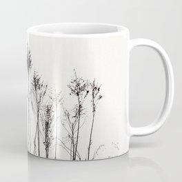 Dried Tall Plants and Flying White Birds Coffee Mug