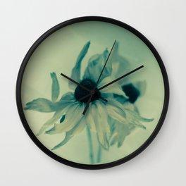 Blue coneflowers Wall Clock