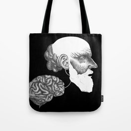 Limit your emotional affect please. Tote Bag