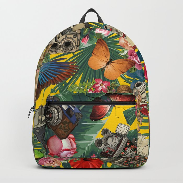 tropical in yellow Backpack