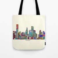 houston Tote Bags featuring Houston by bri.buckley