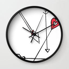 straight thru the heart Wall Clock