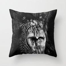The Wise Simian (Gorilla) Throw Pillow