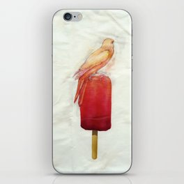 Strawberry Canary Popsicle iPhone Skin