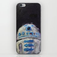 r2d2 iPhone & iPod Skins featuring r2d2 by Thad Taylor Art