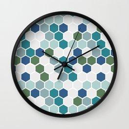 Seafoam Mosaic Wall Clock