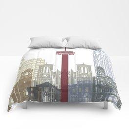 San Antonio skyline poster Comforters