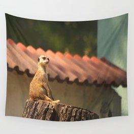 Meerkat Funny Observer #decor #society6 Wall Tapestry