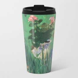 Manet, Boy in Flowers, 1876 Travel Mug
