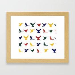 Silhouettes - Pattern Framed Art Print
