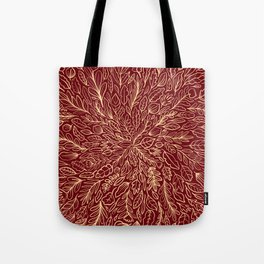 Warm Autumn Leaves Tote Bag