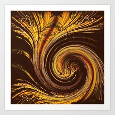 Golden Filigree Germination Art Print